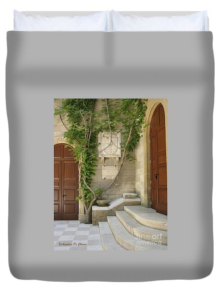 Italian Courtyard- Brindisi Duvet Cover