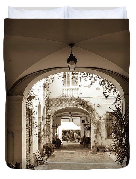 Italian Courtyard  Duvet Cover
