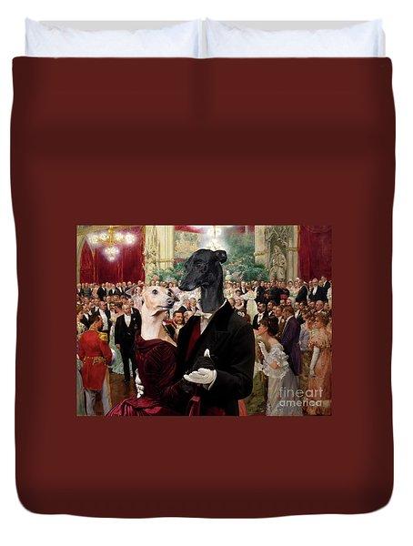 Italian Greyhound Art Canvas Print - Beautiful City Dance Hall Vienna Wilhelm Gause Duvet Cover