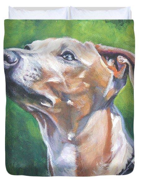 Italian Greyhound Duvet Cover by Lee Ann Shepard