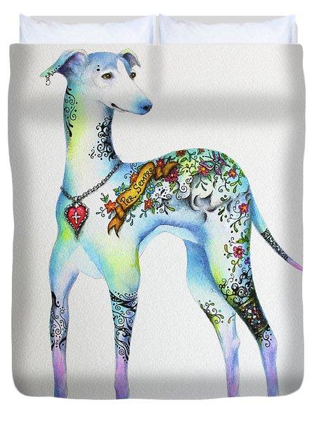 Italian Greyhound Tattoo Dog Duvet Cover