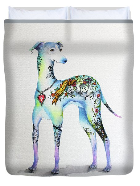 Italian Greyhound Tattoo Dog Duvet Cover