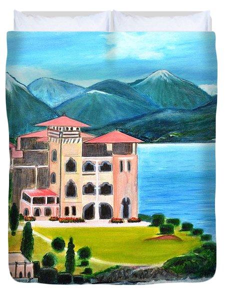 Italian Landscape-casino Royale Duvet Cover