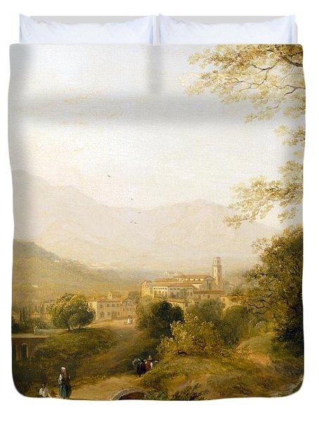 Italian Landscape Duvet Cover by Joseph William Allen