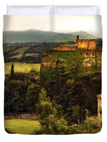 Italian Castle And Landscape Duvet Cover