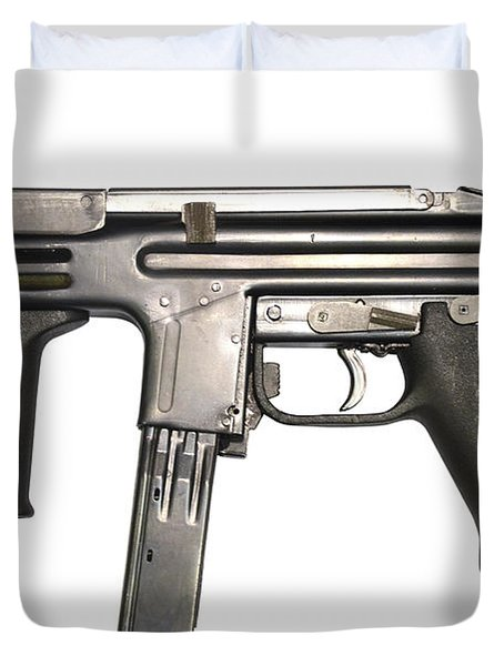 Italian Spectre M4 Submachine Gun Duvet Cover by Andrew Chittock