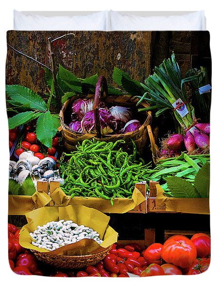 Duvet Cover featuring the photograph Italian Vegetables  by Harry Spitz