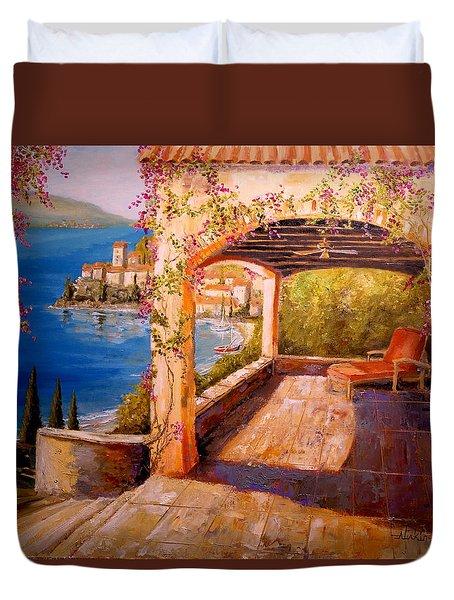 Italian Villa  Duvet Cover by Alan Lakin