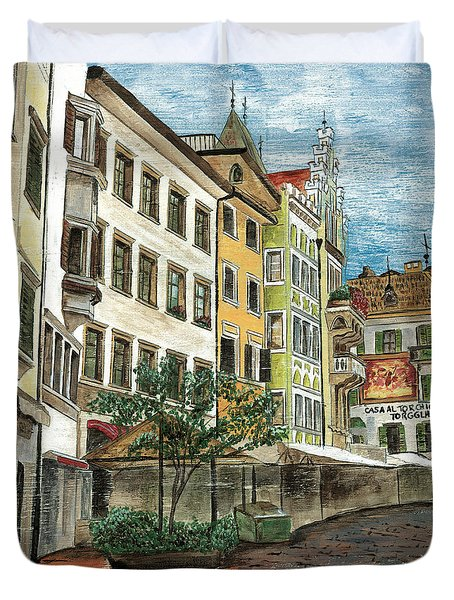 Italian Village 1 Duvet Cover