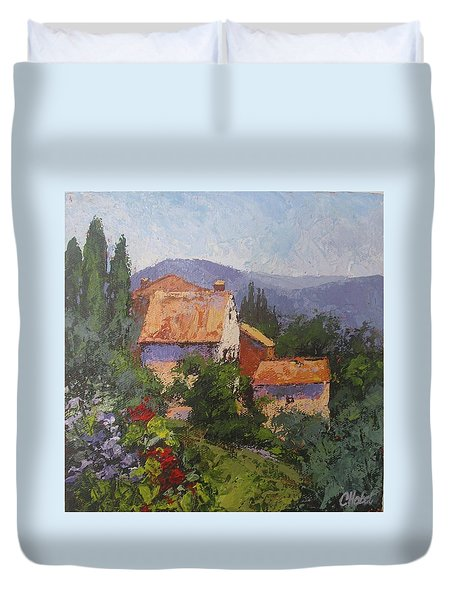 Italian Village Duvet Cover by Chris Hobel