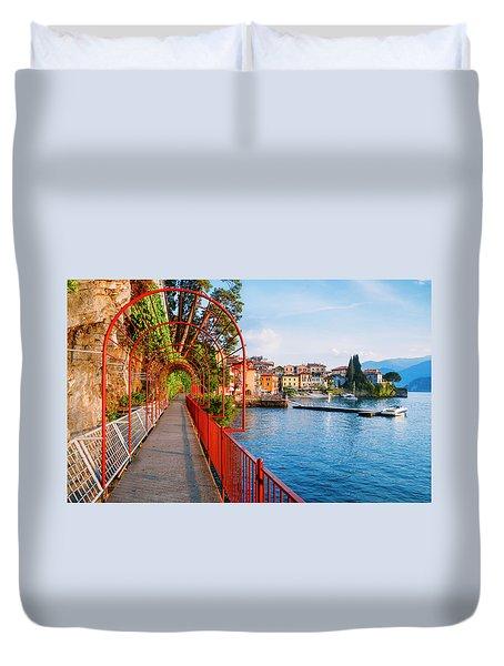 Italian Walk Of Love  Duvet Cover