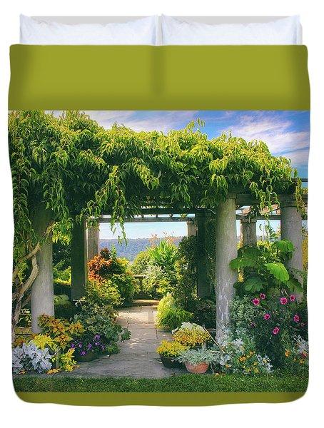Italianate Terrace Duvet Cover by Jessica Jenney
