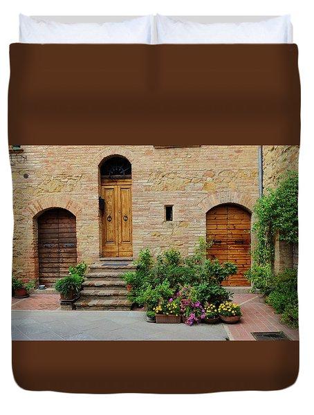 Italy - Door Eight Duvet Cover