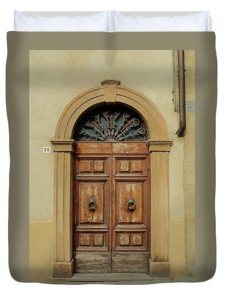 Italy - Door One Duvet Cover