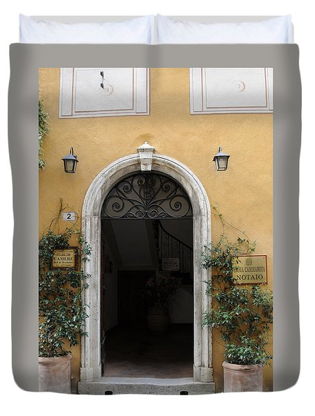 Italy - Door Thirteen Duvet Cover