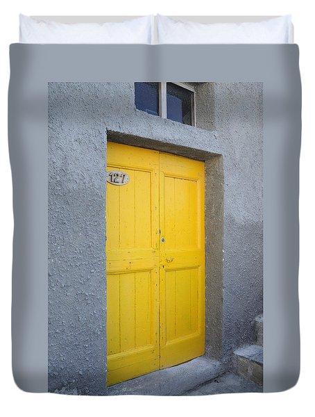 Italy - Door Three Duvet Cover