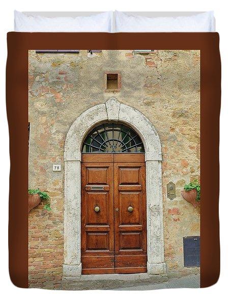 Italy - Door Twelve Duvet Cover