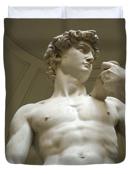 Italy, Florence, Statue Of David Duvet Cover