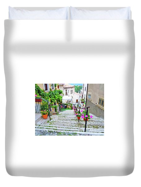Italy In The Spring  Duvet Cover