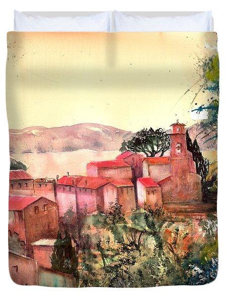 Italy Pai Di Sopra On Lake Garda Duvet Cover