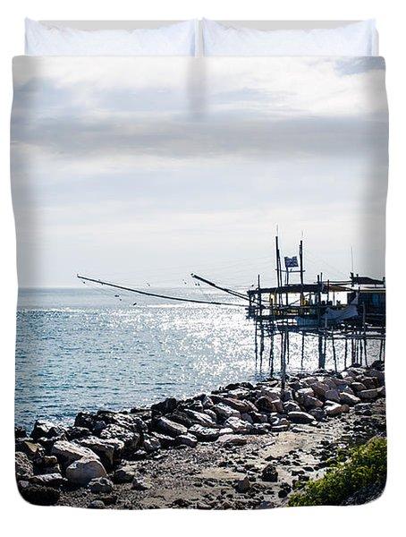 Italy - The Trabocchi Coast 2  Duvet Cover