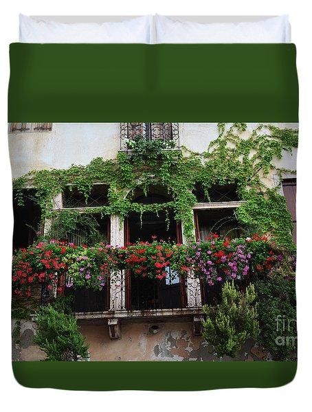 Italy Veneto Marostica Main Square Duvet Cover