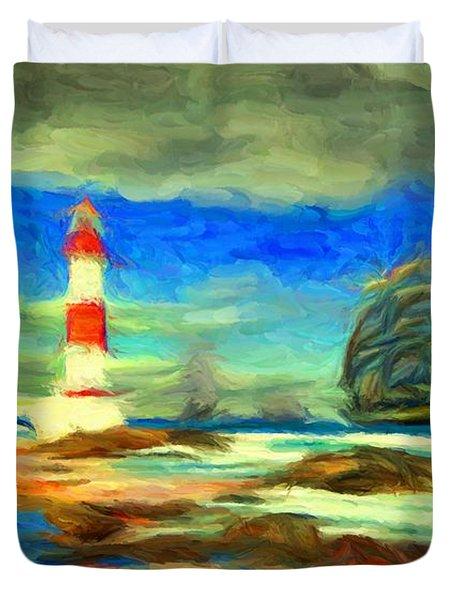 Itapua Lighthouse 1 Duvet Cover