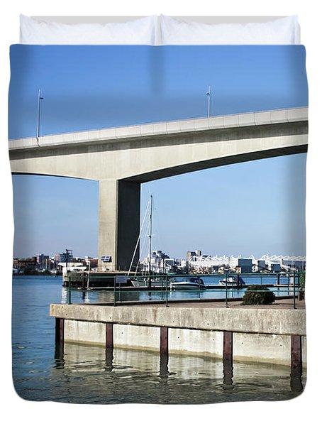 Itchen Bridge Southampton Duvet Cover by Terri Waters