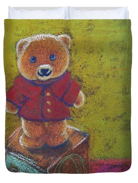 It's A Bear's World Duvet Cover by Tracy L Teeter
