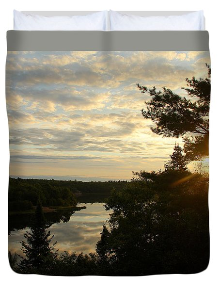 Duvet Cover featuring the photograph It's A Beautiful Morning by Debbie Oppermann
