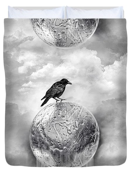 It's A Crow's World Duvet Cover