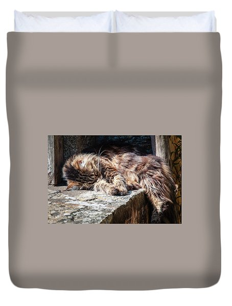 It's A Hard Life Duvet Cover