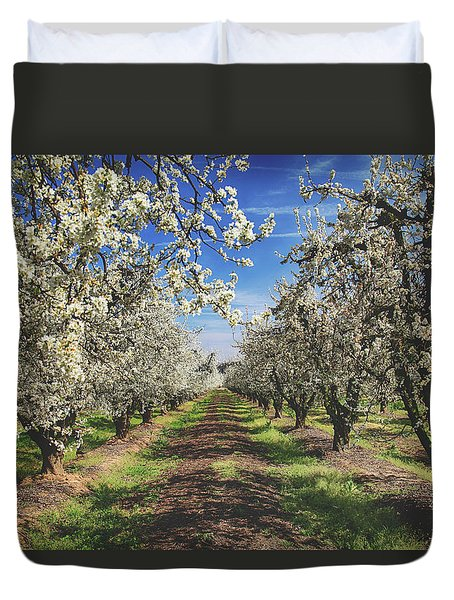 Duvet Cover featuring the photograph It's A New Day by Laurie Search