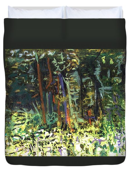 It's A Jungle Out There Duvet Cover by Betty Pieper
