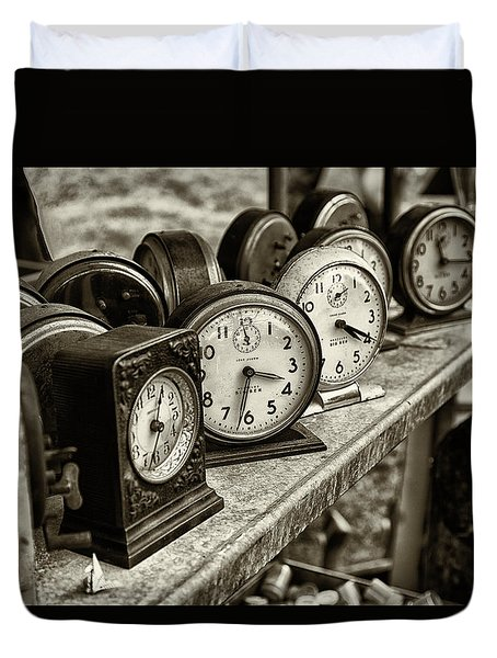 Duvet Cover featuring the photograph It's About Time by John Hoey
