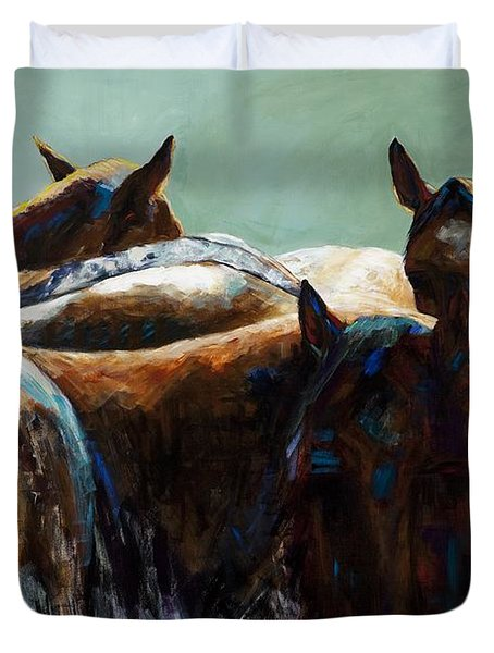 Its All About The Brush Stroke Duvet Cover by Frances Marino