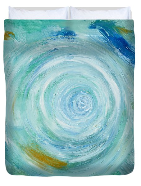 Duvet Cover featuring the painting It's All About The Universe by Silke Brubaker