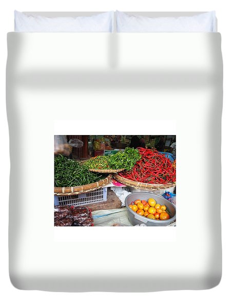 Spicy Chili Duvet Cover