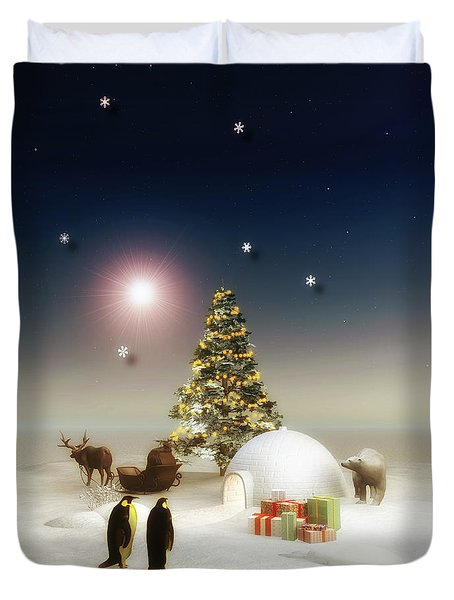 It's Christmas Time Duvet Cover