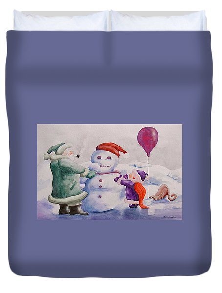 It's Cold Grandpa Duvet Cover