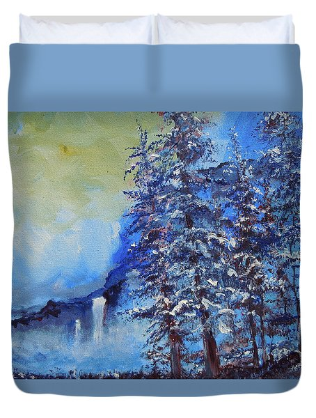 It's Cold Out Duvet Cover
