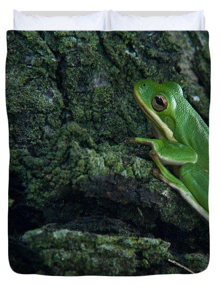 Its Hard To Be Green Duvet Cover by Douglas Barnett