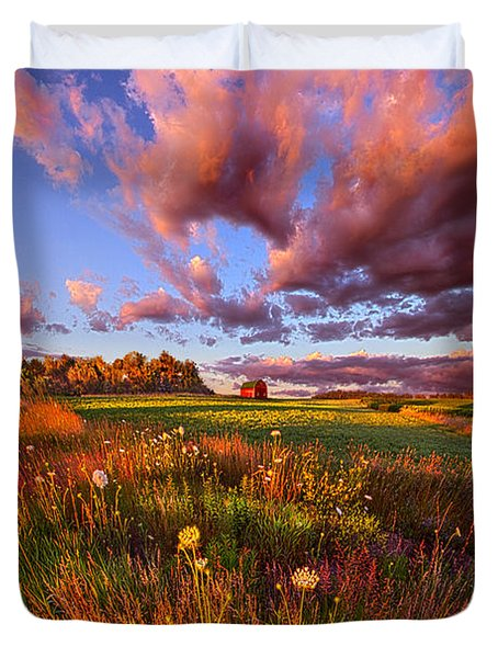 It's Like Going To Heaven With Your Feet Still On The Ground Duvet Cover by Phil Koch