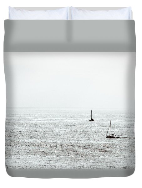 Its Not Far Down To Paradise Duvet Cover by Wade Brooks