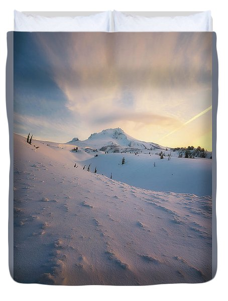 It's Not Spring Yet Duvet Cover by Ryan Manuel