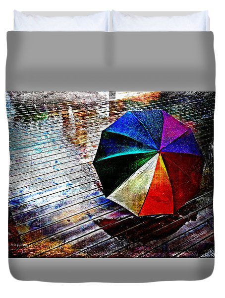 It's Raining Again Duvet Cover