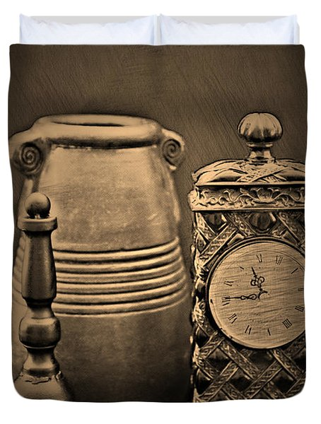 It's Time For... Duvet Cover by Sherry Hallemeier