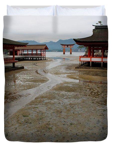 Itsukushima Shrine And Torii Gate Duvet Cover