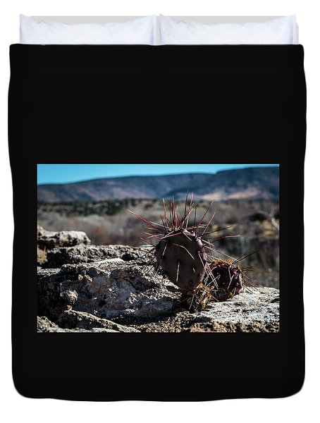 Itty Bitty Prickly Pear Cactus Duvet Cover