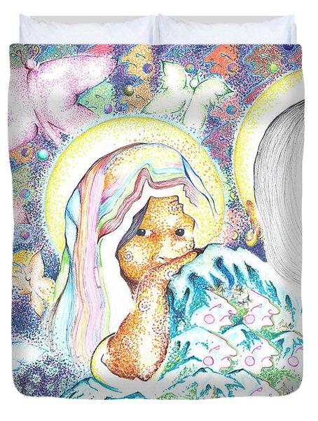 Itzpapalotl Y La Joven Virgin Duvet Cover